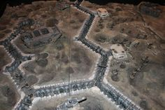 Warhammer 40k trench terrain. Building this when my studio is up and running.