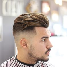 Modern Quiff Undercut Fade - Best Men's Hairstyles: Cool Haircuts For Men. Most Popular Short, Medium and Long Hairstyles For Guys Best Undercut Hairstyles, Cool Hairstyles For Men, Cool Haircuts, Men's Haircuts, Men's Hairstyles Long, Hairstyle Fade, Mens Hairstyles 2018, Layered Hairstyles, Popular Haircuts