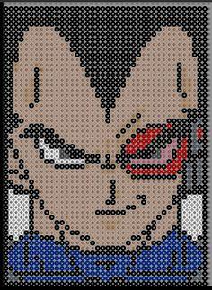 Vegeta Dragon Ball Perler Bead Pattern