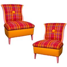 Pair Tulku  Slipper  Chairs:  Love these chairs!