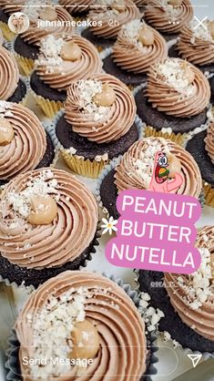 Nutella Cupcakes, Peanut Butter, Sweets, Gummi Candy, Candy, Goodies, Nut Butter, Treats, Deserts