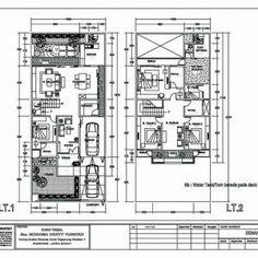 577+ Denah Rumah Minimalis 2 Lantai Type 90 Autocad Layout, Floor Plans, House, Home, Haus, House Floor Plans, Houses