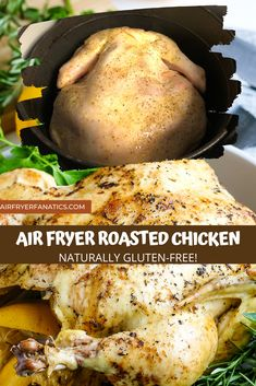 Air Fryer Whole Chicken is the perfect choice for a crispy chicken, it's just like a rotisserie made slowly in the air fryer for over an hour!