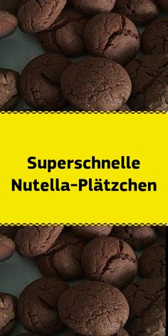 Superschnelle Nutella-PlätzchenSuper fast Nutella cookies a popular recipe from the baking category. Ingredients: 180 g Nutella 1 egg (he) (room temperature) 150 g flour 1 teaspoon baking powder some powdered sugar for dusting Preparation: Working t Nutella Biscuits, Nutella Cookies, Lemon Biscuits, Chocolate Truffles, Vegan Brownie, Brownie Recipes, Xmas Food, Christmas Desserts, Chewy Brownies