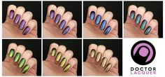 Swatches and review Doctor Lacquer ChromoZones collection | Squeaky Nails