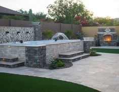 Create a custom surround with stones. Less expensive then putting it in the ground. Hot Tub Backyard, Small Backyard Pools, Small Pools, Swimming Pools Backyard, Pool Landscaping, Lap Pools, Indoor Pools, Pool Decks, Backyard Pool Designs