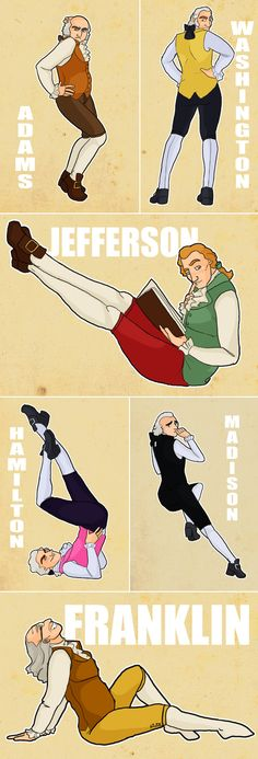 Founding father pin-ups -- strangely I find this quite hilarious!