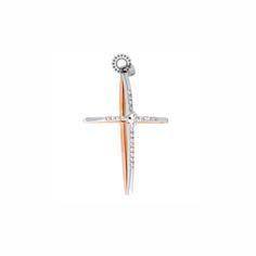 Βαπτιστικός σταυρός λεπτός για κορίτσι λευκόχρυσος Κ18 με διαμάντια & μονόπετρο | Σταυροί βάπτισης για κορίτσι με διαμάντια ΤΣΑΛΔΑΡΗΣ στο Χαλάνδρι Girl Christening, Jewelry Design, Symbols, Jewels, Diamond, Earrings, Beauty, Dresses, Art