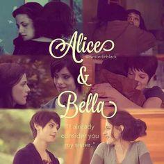 Alice & Bella. Alice has always been my favorite character of the entire saga.