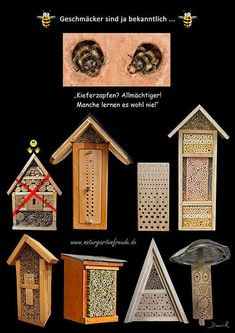 Insektenhotel Insektennisthilfe Nisthilfe Schautafel Kiefernzapfen l insect hotel insect nisting aid poster chart  Neudorff bug house