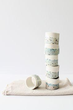 diy faux ceramic napkin rings | almostmakesperfect