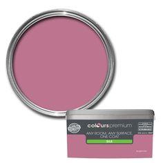 Colours Premium Any Room One Coat Bougainvillea Silk Emulsion Paint 2.5L | Departments | DIY at B&Q
