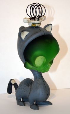"""Electro-Zombie Skelve Cat"" 