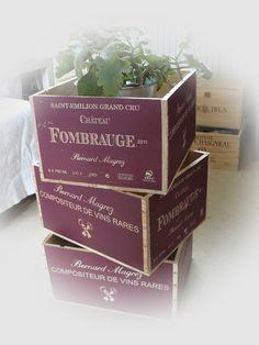 """Kisten & Boxen - Ausgefallene Weinkisten """"Weinrot"""" - ein Designerstück von Dragonflys-Home bei DaWanda"""