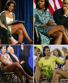 First Lady Michelle Obama. Long legs is the benefit of being nearly 6 feet tall. Presidents Wives, Black Presidents, Barak And Michelle Obama, Presidente Obama, Barack Obama Family, Michelle Obama Fashion, American First Ladies, First Black President, Sexy Women