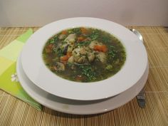 Szombat 1: Tárkonyos raguleves Food And Drink, Chicken, Meat, Ethnic Recipes, Soups, Soup, Cubs