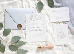 Green Grecian Wedding Stationery