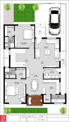 Modern House Floor Plan India A Beautiful 4 Bedroom Duplex House On A 300 Sq Yards Plot 40x60 House Plans, Duplex Floor Plans, Modern House Floor Plans, Luxury House Plans, 2bhk House Plan, Free House Plans, Model House Plan, Small House Plans, North Facing House