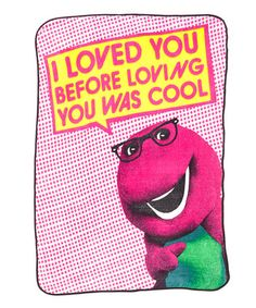 OMG I can't stop laughing at this! Take a look at this Barney Blanket by Funky People on #zulily today!