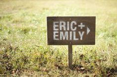 DIY wedding directional signs
