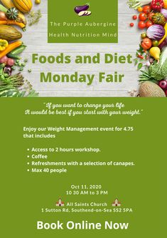 A Food and Health Promotion Fairy day where you can enjoy a coffee and a friendly chat. Besides, we offer a workshop and refreshments! Vegetarian Protein Sources, Health Promotion, Canapes, Best Diets, Weight Management, Health And Nutrition, A Food, Brain