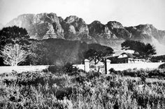 The Homestead on the present site of the bowling green, Camps Bay 1900 Old Photos, Vintage Photos, Cape Dutch, Inner World, African History, Camps, Cape Town, South Africa, Old Things