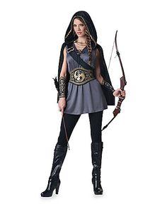 womens hooded huntress costume