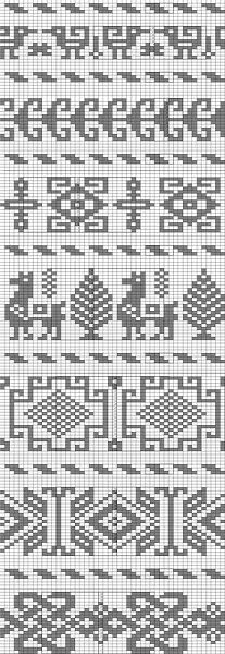 My collection of knitting chart patterns, jacquard style of knitting for children Fair Isle Knitting Patterns, Fair Isle Pattern, Knitting Charts, Loom Patterns, Loom Knitting, Knitting Stitches, Cross Stitch Patterns, Free Knitting, Fair Isle Chart
