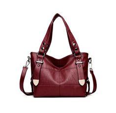 Bags For Women Luxury Handbag Female Brand Designer Shoulder Bag Casual Shopping Tote PU Leather Handbags Double Arrow Soild Bag Gris Violet, Violet Rouge, Ghana, Sierra Leone, Sacs Design, Buy Bags, Designer Shoulder Bags, Casual Bags, Women's Casual