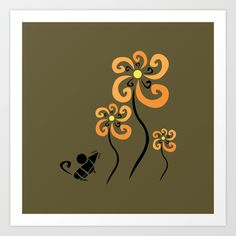 Flowers for Algernon Art Print by Hinterlund - $18.00