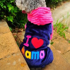 We all like to think we're our doggy's favorite, but make it official with these adorable 'I Love Mama & Papa' Dog Hoodies.  https://www.dressyourdoggy.com/collections/hoodies/products/i-love-mama-papa-dog-hoodies?variant=33197138898