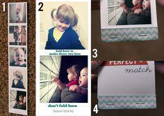 Matchbook Valentine using Instagram photos CUTE!