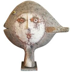 Raku Sculpture by Roger Capron - Vallauris - France - 1995   From a unique collection of antique and modern ceramics at http://www.1stdibs.com/furniture/dining-entertaining/ceramics/