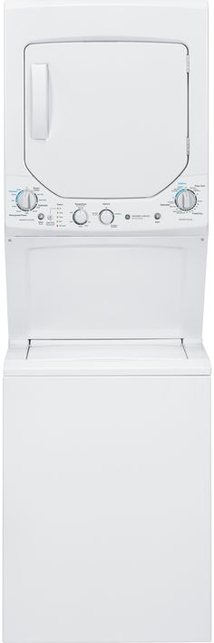 GE GUD24ESSJWW 24 Inch Electric Laundry Center with 2.0 cu. ft. Washer Capacity, 12 Wash Cycles, 4.4 Dryer Capacity, 4 Dry Cycles and Rotary Knob Controls