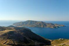 Patmos view of island from Mount Elijah