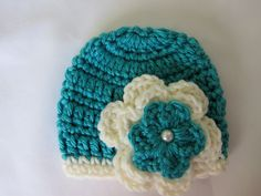 Crochet premie hat by Aubreyscrochet on Etsy, $12.49  My aunt makes beautiful hats, scarfs, gloves, headbands, etc for babies this is her etsy site, if you are having a baby, or have a baby you will fall in love with her stuff :) <3