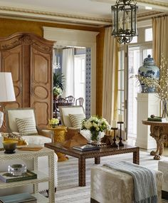 Living Room Designs, Living Room Decor, Living Spaces, Living Rooms, French Decor, French Country Decorating, Country French, British Country, French Blue