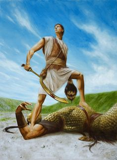 1 Samuel 17 David and Goliath Bible Images, Bible Pictures, Jesus Pictures, Jesus Christ Painting, Jesus Art, Christian Artwork, Christian Pictures, David Bible, Bible Stories For Kids