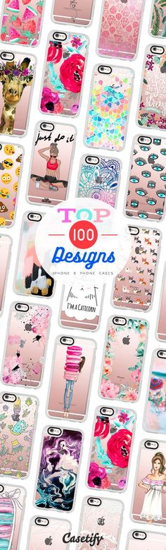 Top 100 iPhone 6 protective phone case designs | Click through to see more animal food marble floral iPhone phone case designs >>> https://www.casetify.com/collections/top_100_designs | /casetify/