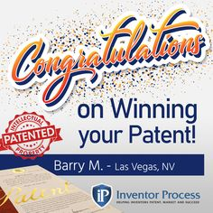 Congratulations, Barry M.! We're so happy we could be a part of your success. Inventor Process can help you develop and patent your idea just like we helped Barry. Contact Us Now! #newinventors #inventing #successfulinventors #patent #lasvegas #happy #inventormade #becomesuccessful Happy We, Inventors, Innovation, Success, Marketing, Motivation, Storage Organization, Congratulations, History