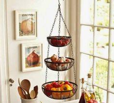 As novas fruteiras - Design + Criatividade + Pesquisa de Mercado. Hanging  Fruit BasketsFruits BasketHanging Vegetable BasketHanging Wire BasketKitchen  ...
