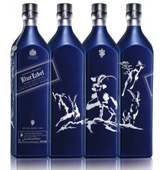 Whisky brand Johnnie Walker has released a special edition bottle of its Blue Label blend to mark the Chinese year of the ram. Good Whiskey, Cigars And Whiskey, Scotch Whiskey, Cocktails, Alcoholic Drinks, Vodka, Tequila, Johnnie Walker Whisky, Johnny Walker Blue Label