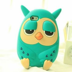 Price:$25.99 Color: Green/Pink Material: Silica Gel Cute stylish cartoon owl 3d phone case for iphone 4/4s/5/5s