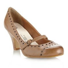 Wider fit tan punched detail Mary Jane shoes - Wide fit - Shoes & boots - Women -