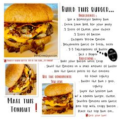 Build this burger tonight ! Beyond the Yum! I'm still craving it...from PineCreekStyle.com, FB, IG & Pinterest..Shave, save and follow today!