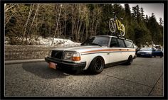 Volvo 240 wagon on watanabes wheels.