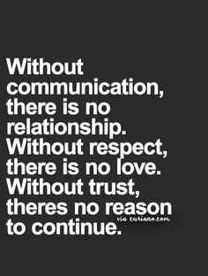 Communication, love, trust
