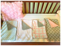 Burp clothes and flower pillow! So easy to make and adorable.