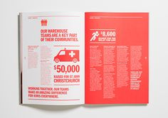 The Warehouse Community & Environmental Report on Behance