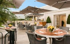 roof restaurant on a terrace
